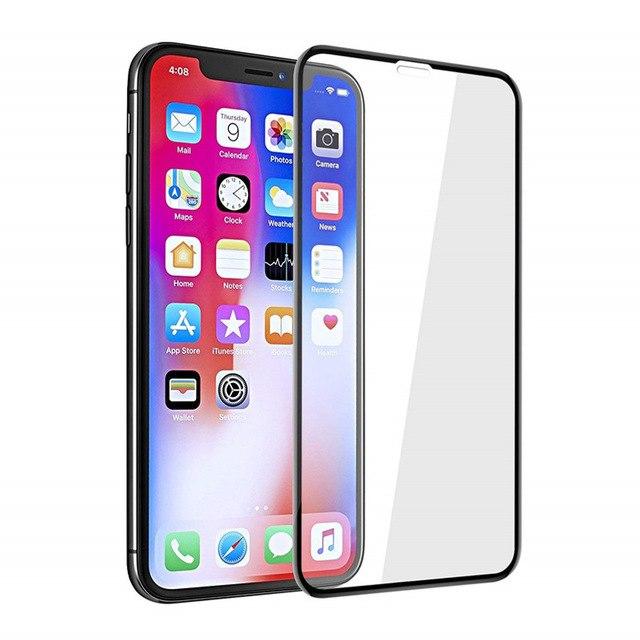 Miếng dán kính cường lực cho iPhone X / Xs hiệu ANANK Nhật Bản  (Full 2.5D, 0.2mm, phủ nano, chống tia cực tím, Mặt...