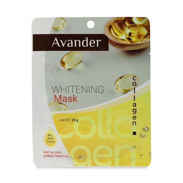 Mặt nạ giấy dưỡng trắng da  tinh chất Collagen Avander 25g - 1852244 , 2583020197168 , 62_13987058 , 15500 , Mat-na-giay-duong-trang-da-tinh-chat-Collagen-Avander-25g-62_13987058 , tiki.vn , Mặt nạ giấy dưỡng trắng da  tinh chất Collagen Avander 25g