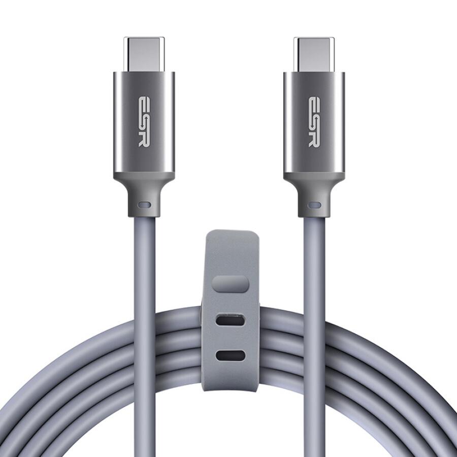 Cáp Sạc Type-C ESR Thích Hợp Cho Apple MacBook / Huawei P10 - 1 Mét - Màu Xám