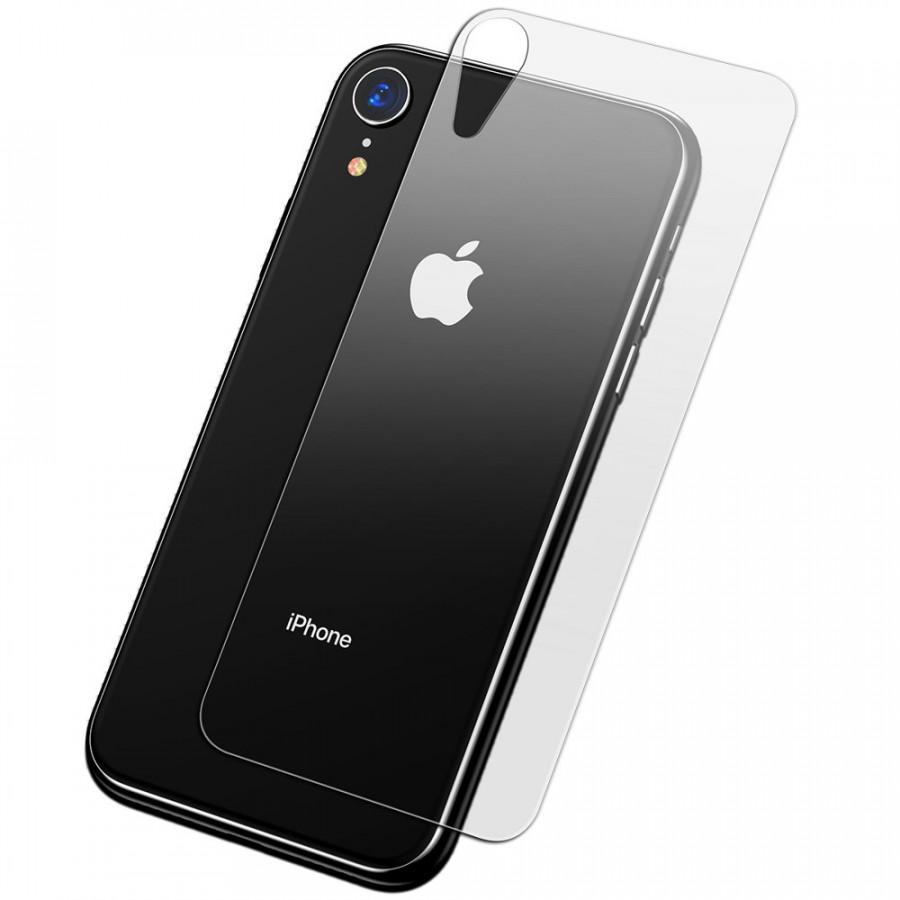 Miếng dán kính cường lực mặt sau lưng cho iPhone XR 6.1 inch hiệu BASEUS (mỏng 0.3mm, Full Glass, Full HD, Phủ Nano)