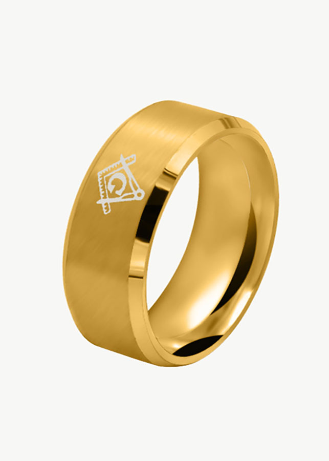 Nhẫn nam kỹ hiệu chữ G ( màu vàng)