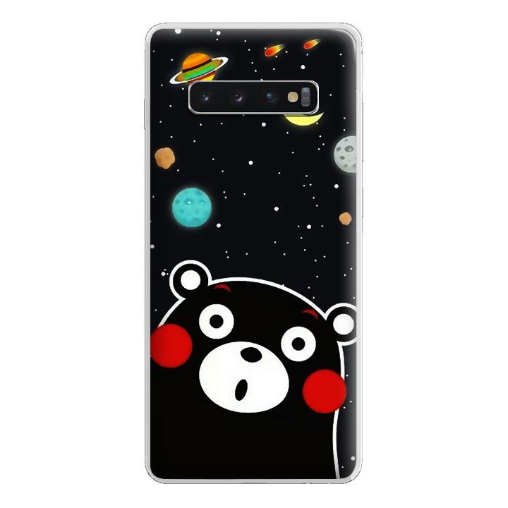 Ốp lưng dẻo Nettacase cho Samsung Galaxy S10 Plus_0345 BEAR03 - Hàng Chính Hãng