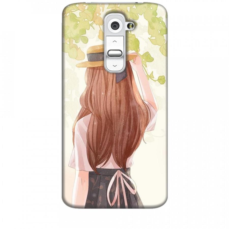 Ốp lưng dành cho điện thoại LG G2 Phía Sau Một Cô Gái