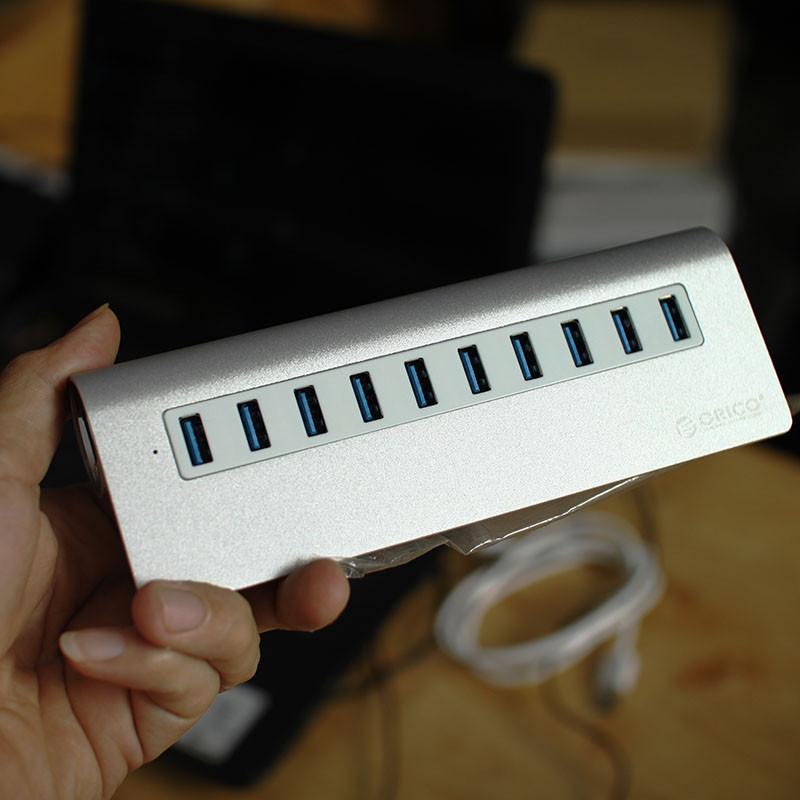 Hub USB, bộ chia usb 1 ra 10 cổng USB 3.0 Orico M3h10-SV, vỏ hợp kim Aluminum có nguồn phụ - hàng chính hãng. - 2011006 , 1783086464032 , 62_14686984 , 2023000 , Hub-USB-bo-chia-usb-1-ra-10-cong-USB-3.0-Orico-M3h10-SV-vo-hop-kim-Aluminum-co-nguon-phu-hang-chinh-hang.-62_14686984 , tiki.vn , Hub USB, bộ chia usb 1 ra 10 cổng USB 3.0 Orico M3h10-SV, vỏ hợp kim A