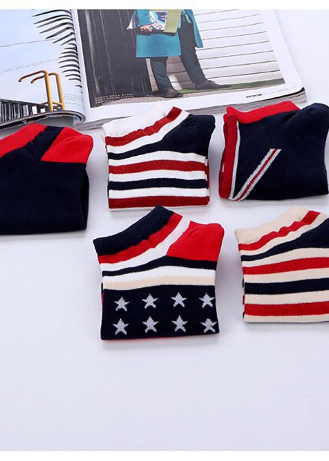 Combo 5 đôi tất vớ cờ Mỹ - Unisex