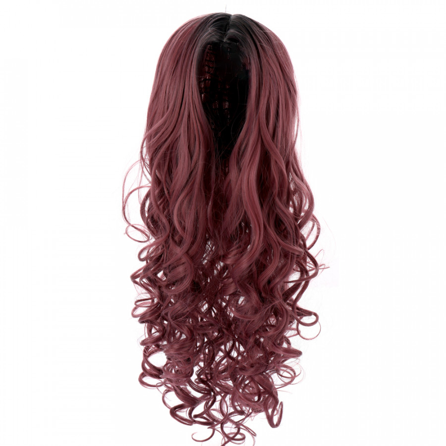 High-temperature Matt Synthetic Fiber Lace Front Big Curly Wigs for The Long Curve Natural Matt Hairpiece Fashionable