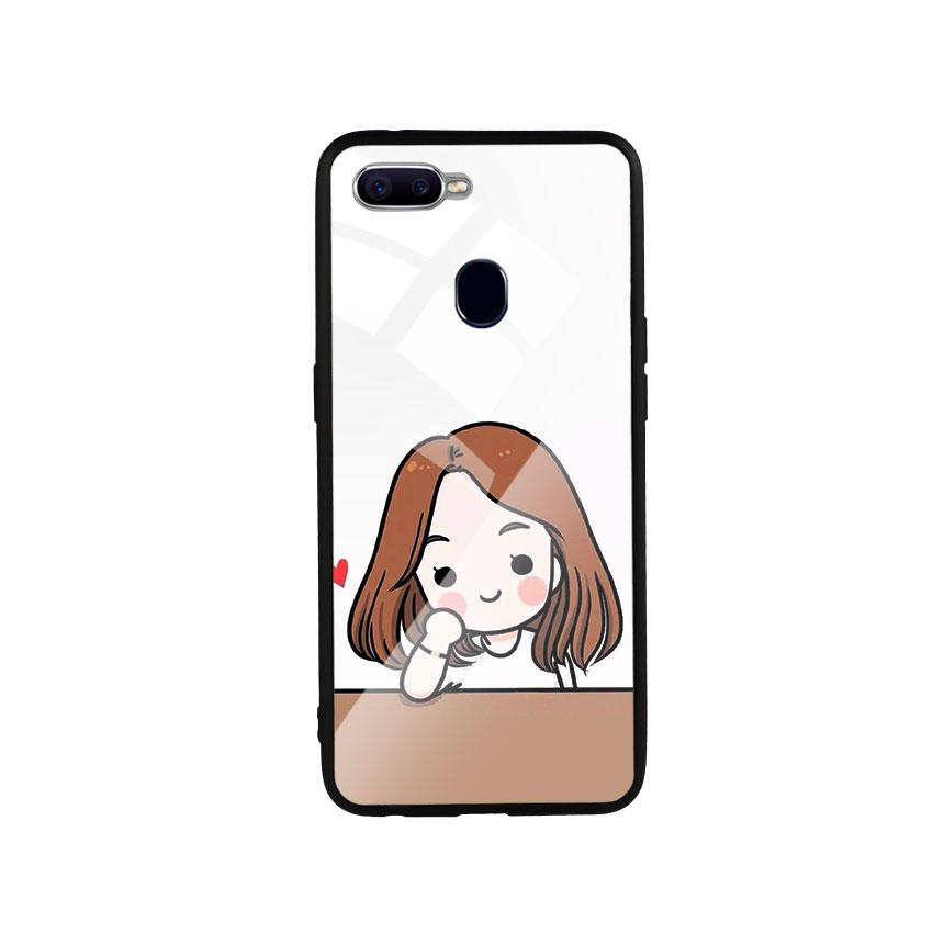 Ốp Lưng Kính Cường Lực cho điện thoại Oppo F9 - Couple Girl 03