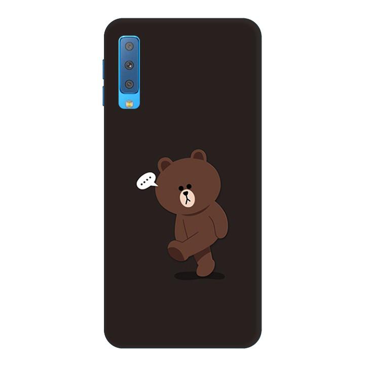Ốp Lưng Dành Cho Điện Thoại Samsung Galaxy A7 2018 Gấu Brown Mẫu 1