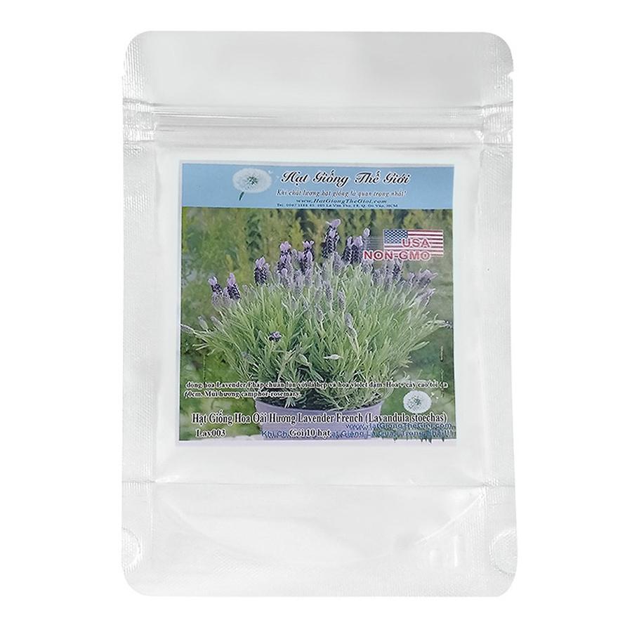 Bộ 5 Túi Hạt Giống Hoa Oải Hương Lavender - French (Lavandula stoechas) 10 Hạt