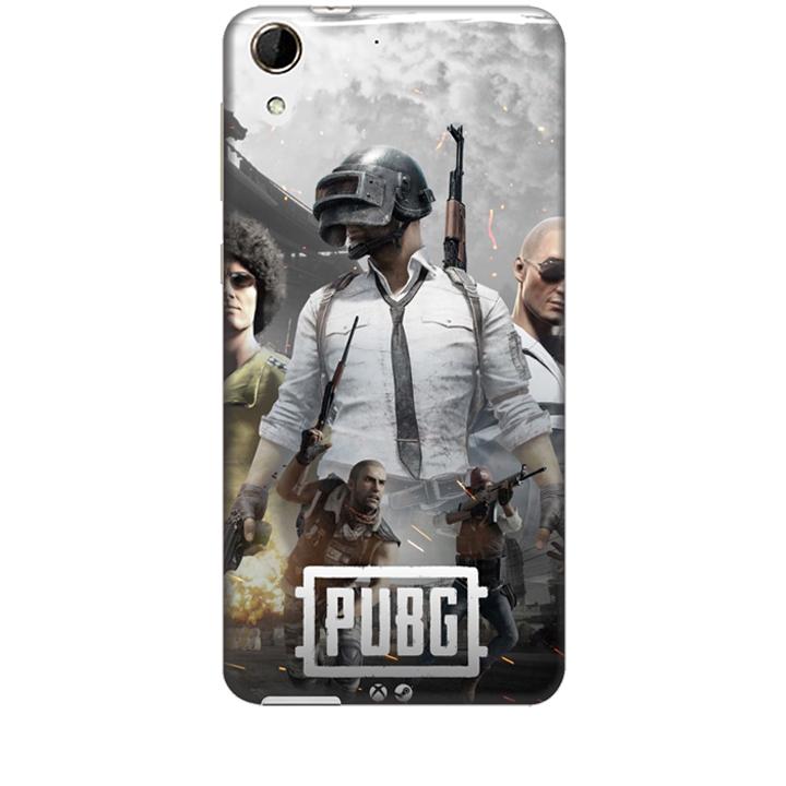 Ốp lưng dành cho điện thoại HTC 728 hình PUBG Mẫu 01