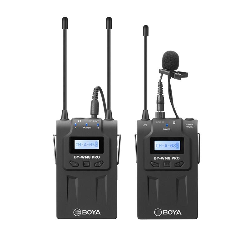Micro thu âm wireless UHF Boya BY-WM8 PRO-K1 - Hàng nhập khẩu