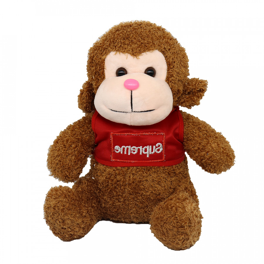 Gấu bông Khỉ Con Mặc Áo Đáng Yêu 30CM - Màu Ngẫu Nhiên