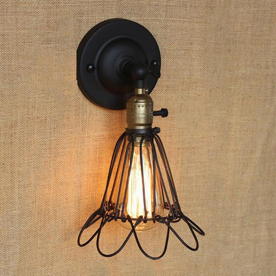 Combo 2 đèn tường rọ hoa cụp xòe TTL001Y Goldseee