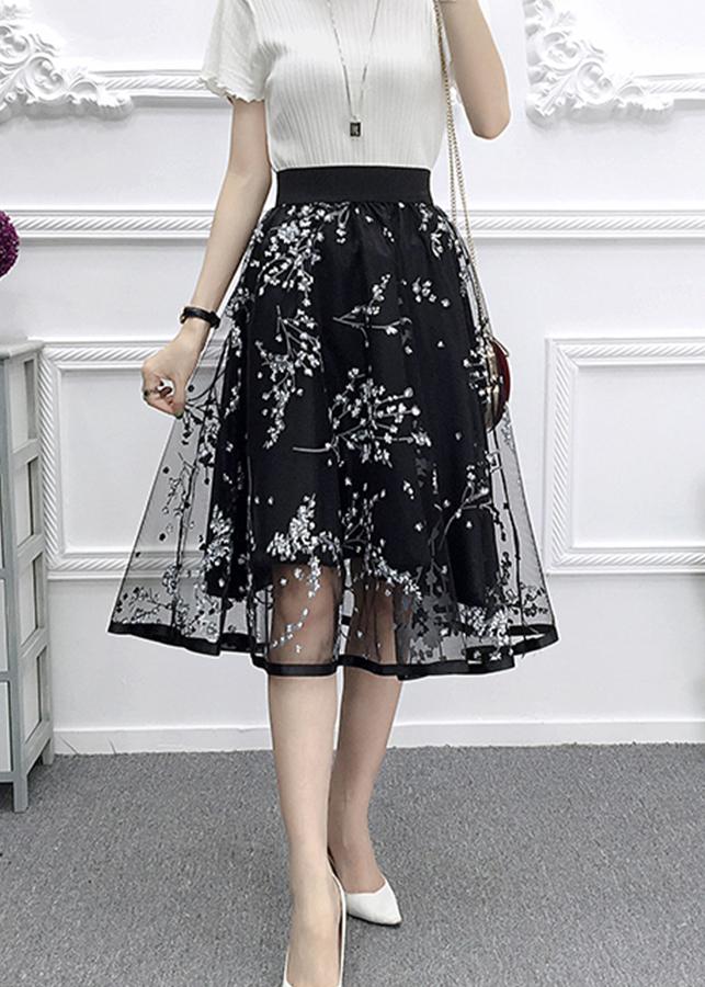1107081507066 - Chân váy ren hoa thạch anh Haint Boutique cv17 bông trắng