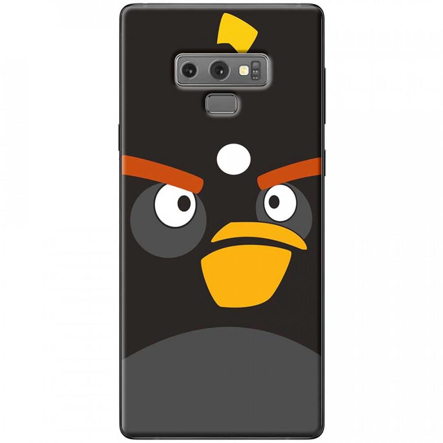 Ốp lưng dành cho Samsung Galaxy Note 9 mẫu Mặt Angry bird đen