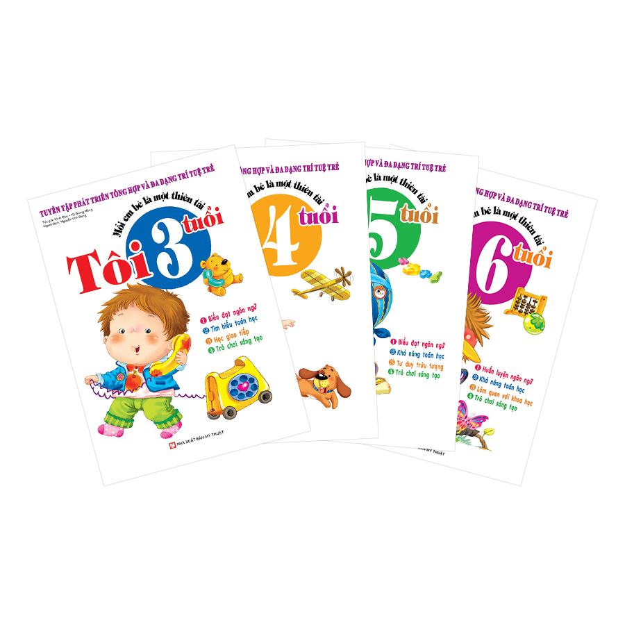 Combo Mỗi Em Bé Là Một Thiên Tài: Từ 3,4,5,6 Tuổi - Tuyển Tập Phát Triển Tổng Hợp Và Đa Dạng Trí Tuệ Trẻ (Bộ... - 7462398 , 6887228674909 , 62_15690067 , 260000 , Combo-Moi-Em-Be-La-Mot-Thien-Tai-Tu-3456-Tuoi-Tuyen-Tap-Phat-Trien-Tong-Hop-Va-Da-Dang-Tri-Tue-Tre-Bo...-62_15690067 , tiki.vn , Combo Mỗi Em Bé Là Một Thiên Tài: Từ 3,4,5,6 Tuổi - Tuyển Tập Phát Triển