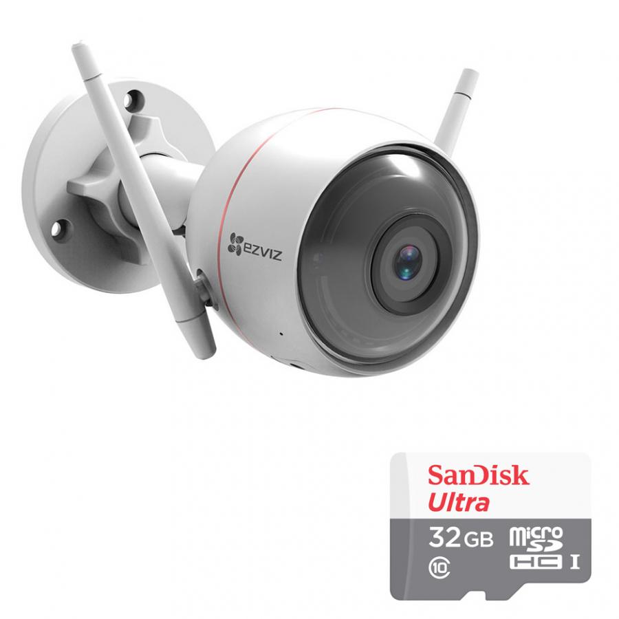 Camera Wifi Ngoài Trời Husky Air CS-CV310 EZVIZ 1.0MP Và Thẻ Nhớ 32GB - Tặng Kèm Tai Nghe Bluetooth
