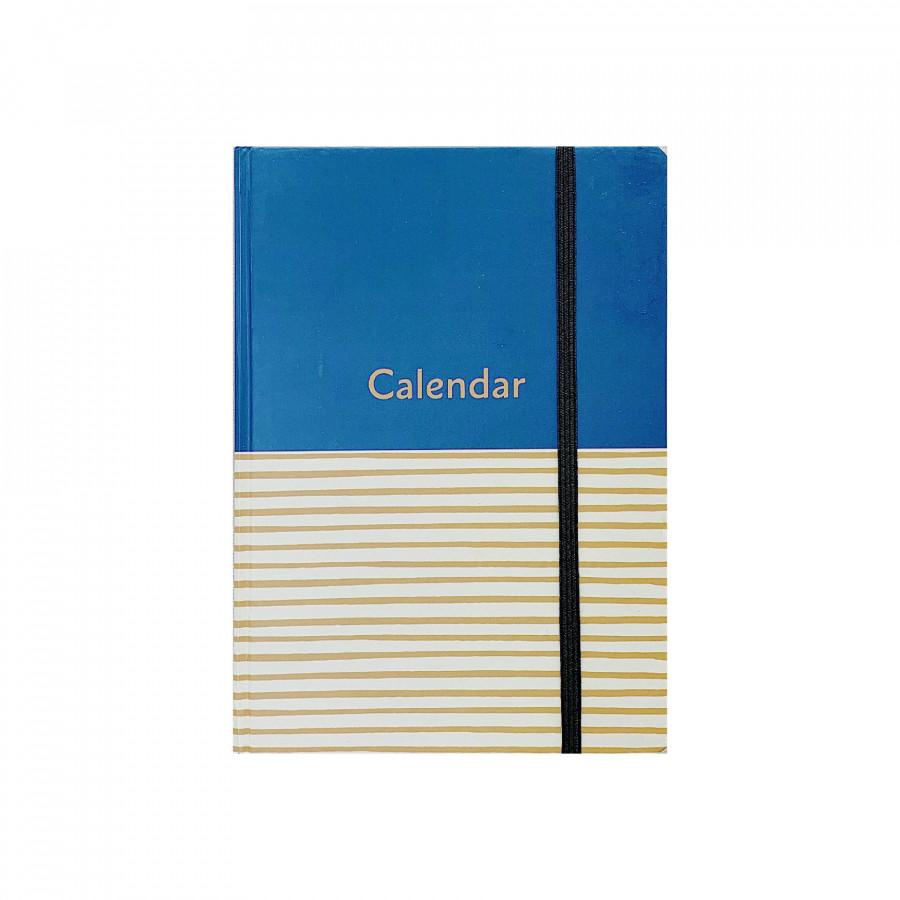 Sổ Lịch - Bìa xanh sọc vàng - Crabit Notebuck