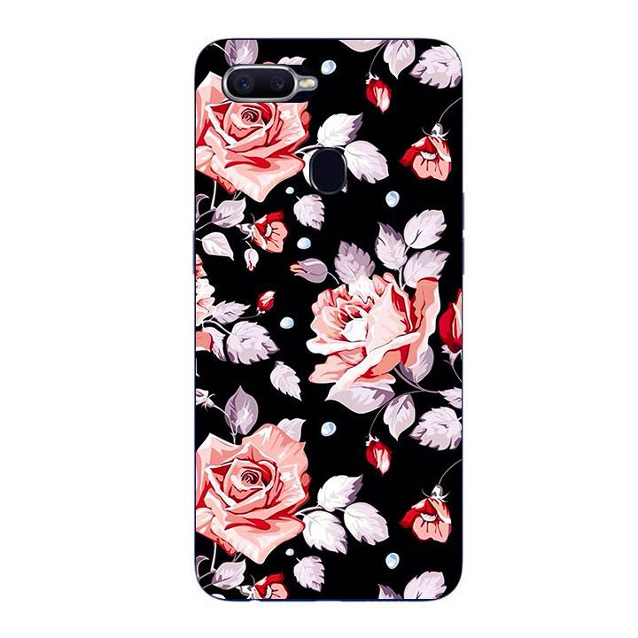 Ốp Lưng Dẻo Cho Điện thoại Oppo F9 - Rose 03