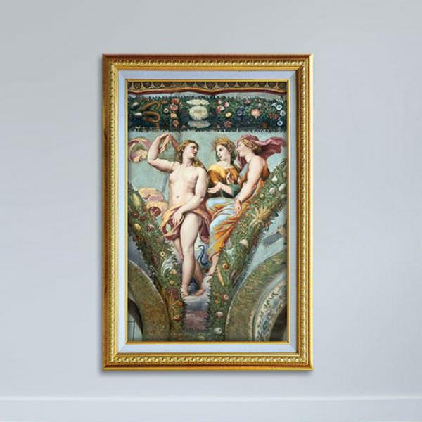 Tranh Nghệ Thuật Thời Phục Hưng Phong Cách Sơn Dầu Canvas Có Viền W1148
