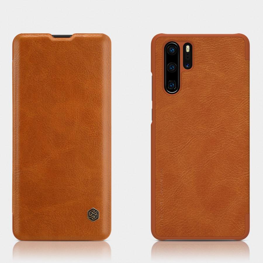 Bao Da Da Bò Cho Huawei P30 Pro hiệu Nillkin Qin  Có Ngăn Đựng Thẻ - Hàng Chính Hãng