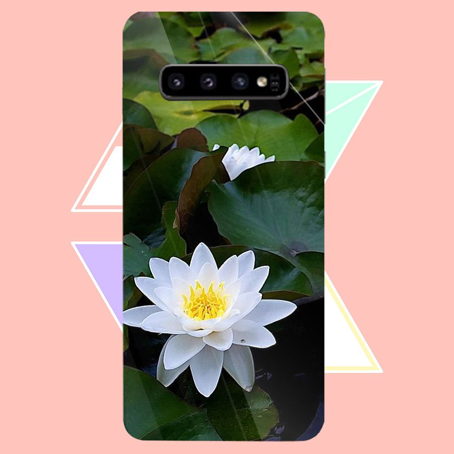 Ốp điện thoại kính cường lực cho máy Samsung Galaxy S10 - Đủ nắng thì hoa nở MS DNTHN002 - Hàng Chính Hãng