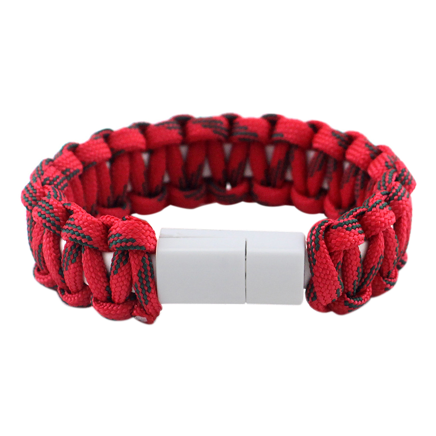 USB Cable Bracelet Lightening Paracord Weaving Wristband Charging Sync Data Cable Cord for IPhone Camping Multifunction