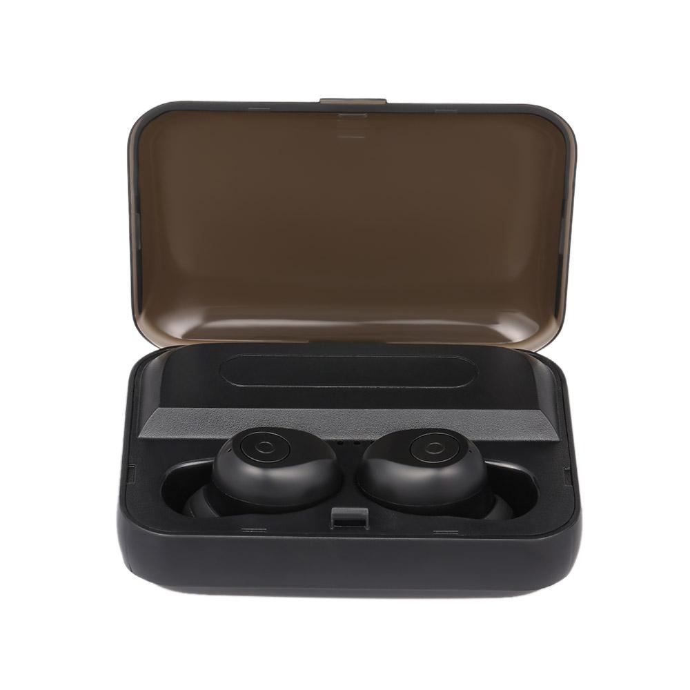Tai Nghe Nhét Tai Thể Thao Không Dây Bluetooth 5.0 Kèm Hộp Sạc Với Mic Tự Động Bật Và Kết Nối F9-1 - Đen