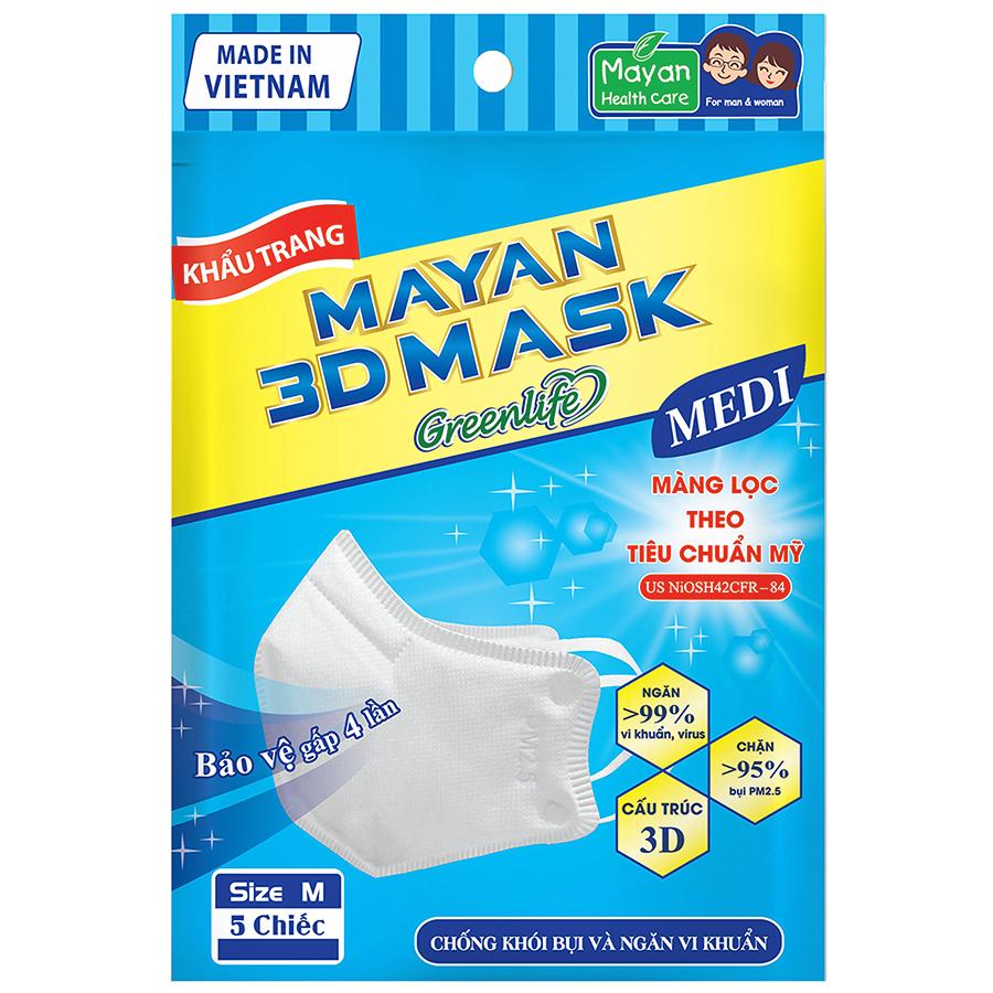 Khẩu Trang Mayan 3D Medi PM2.5 - 1052286 , 8936010541337 , 62_3567175 , 18000 , Khau-Trang-Mayan-3D-Medi-PM2.5-62_3567175 , tiki.vn , Khẩu Trang Mayan 3D Medi PM2.5