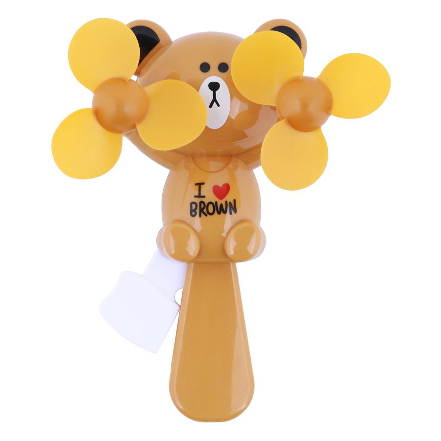 Quạt Mini Cầm Tay 2 Cánh Gấu Brown 2