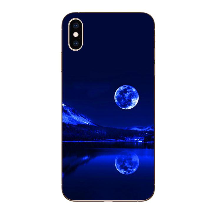 Ốp lưng dẻo cho Iphone XS Max - Moon 02