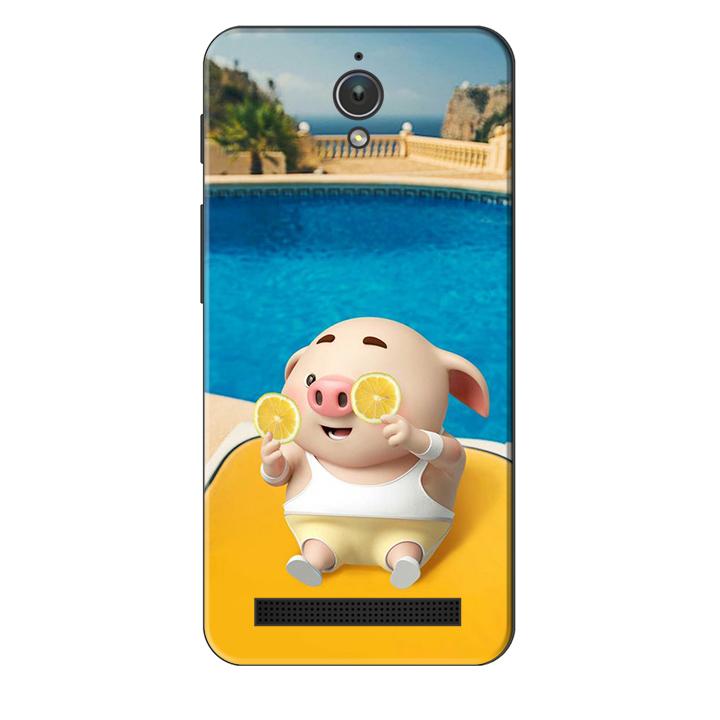 Ốp lưng nhựa cứng nhám dành cho Asus Zenfone Go ZC500TG in hình Heo Tắm Bể Bơi