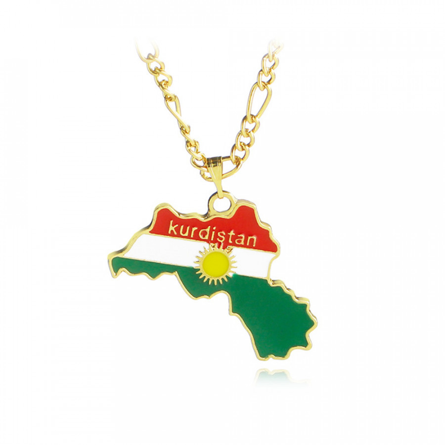 Mặt Dây Chuyền Thời Trang Bản Đồ Kurdistan