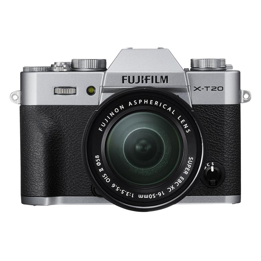 Combo Fujifilm X-T20 Kit 16-50 OIS-Tặng Thẻ 16GB + Túi Máy + Tấm Dán LCD - Bạc - Hàng Chính hãng)