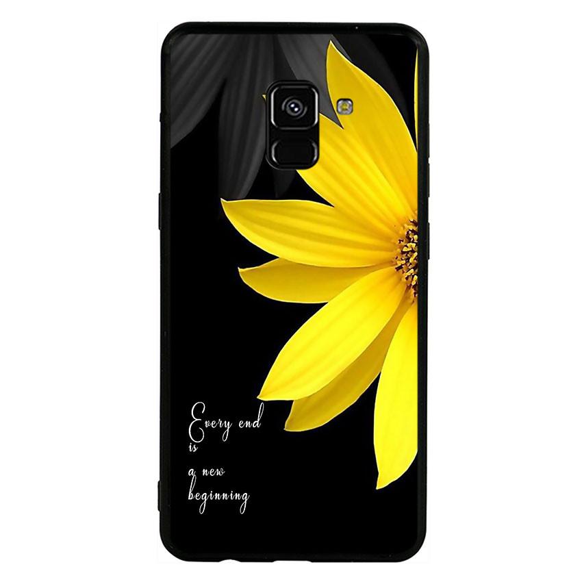 Ốp lưng viền TPU cho Samsung Galaxy A8 2018 - Daisy 01