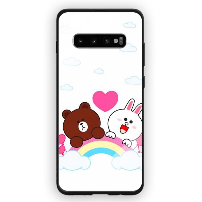 Ốp Lưng Kính Cường Lực Cho Điện Thoại Samsung Galaxy S10 Plus - 391 0061 BROWN04 - Hàng Chính Hãng