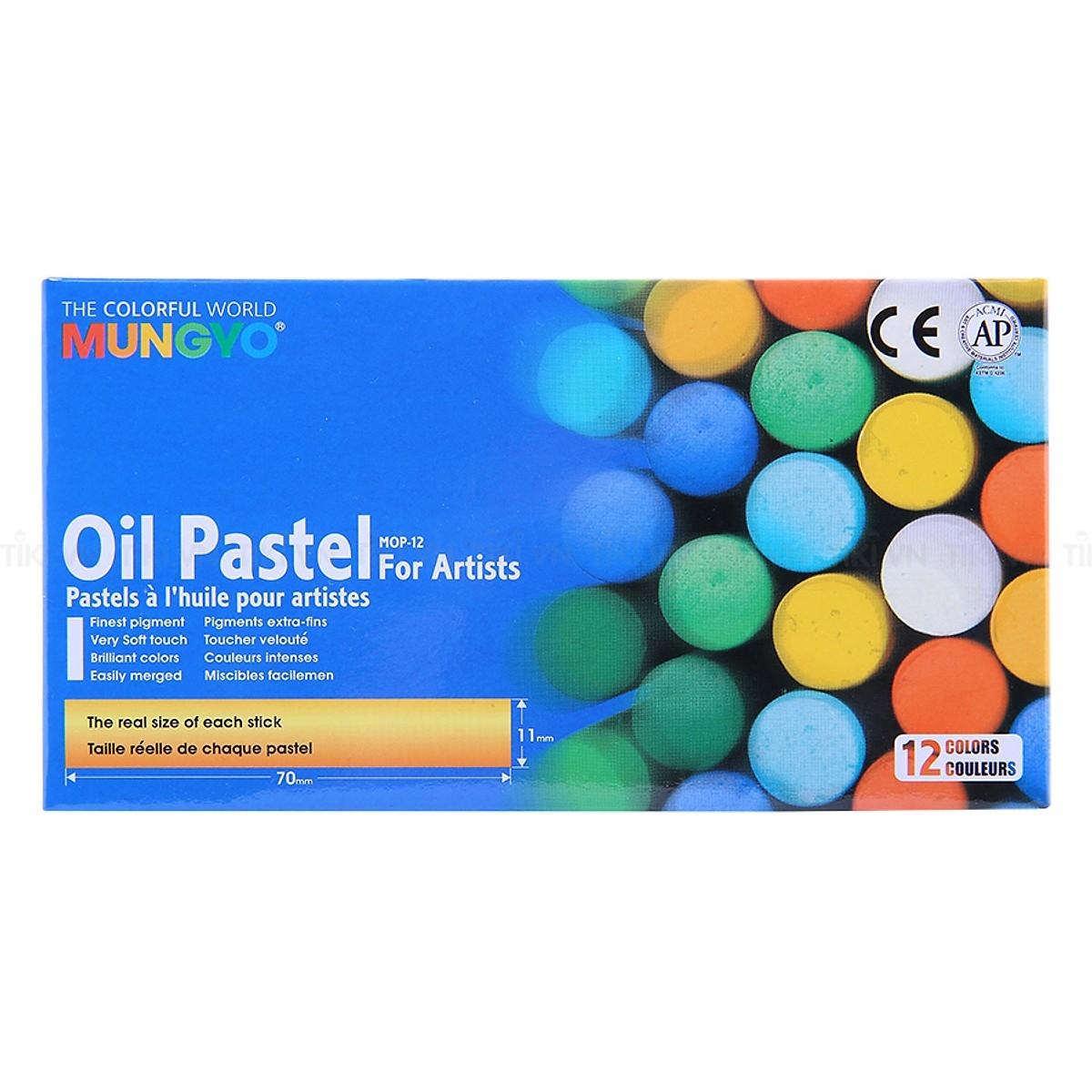 Bút sáp dầu Mungyo 12 màu MOP-12 - 18651195 , 2091312127101 , 62_23412402 , 49000 , But-sap-dau-Mungyo-12-mau-MOP-12-62_23412402 , tiki.vn , Bút sáp dầu Mungyo 12 màu MOP-12