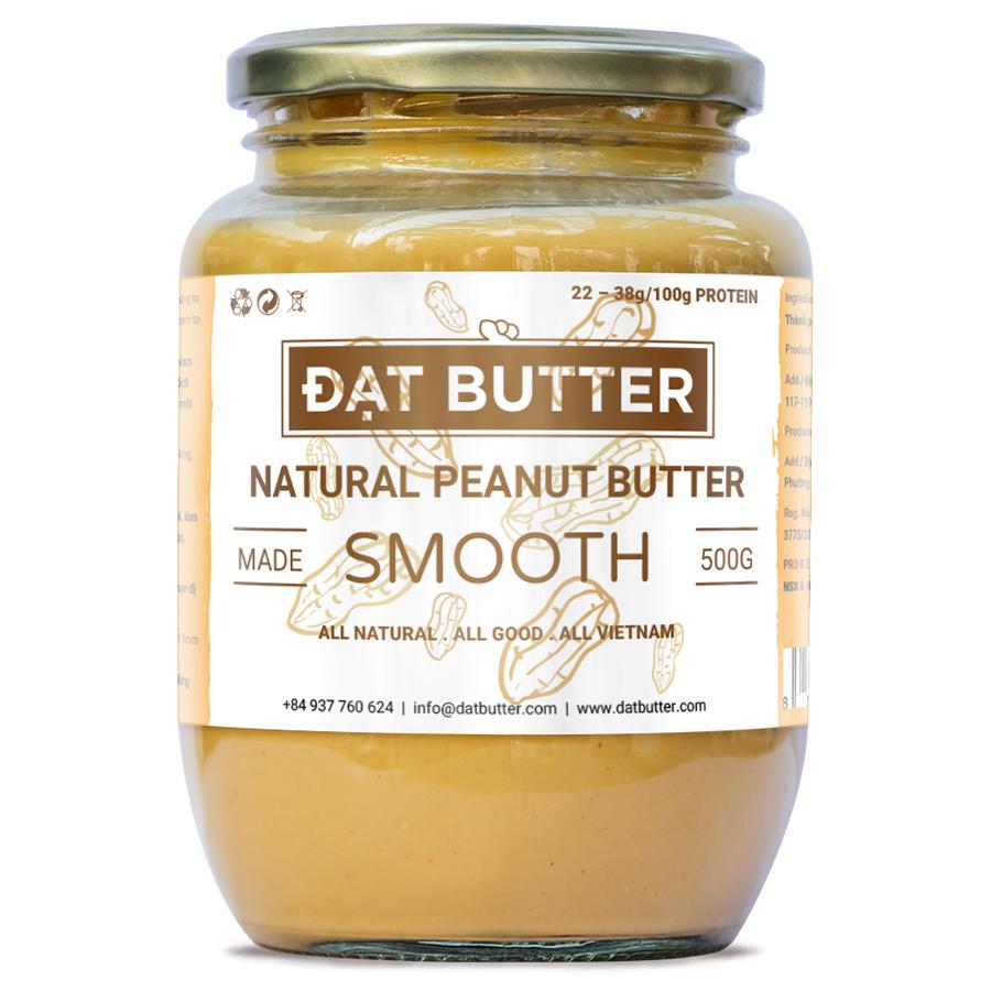 Bơ Đậu Phộng Tự Nhiên Xay Mịn Đạt Butter (500g)