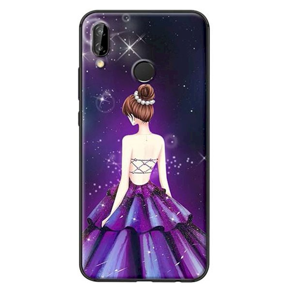 Ốp Lưng Dành Cho Huawei Nova 3E Cô Gái Váy Tím