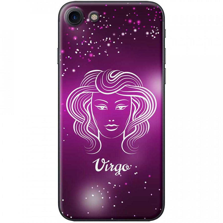 Ốp lưng  dành cho iPhone 7, iPhone 8 mẫu Cung hoàng đạo Virgo (hồng)