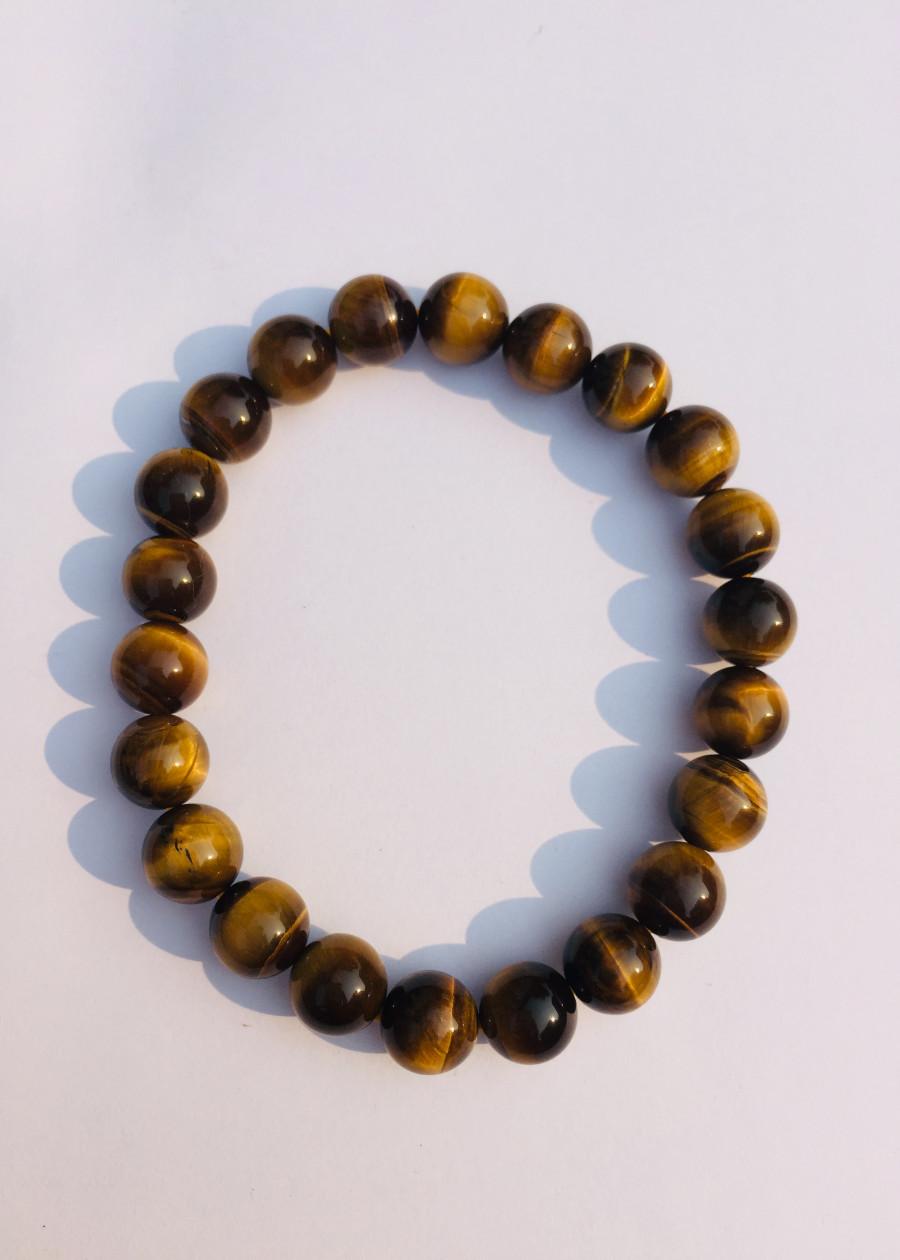 Vòng Tay Đá Mắt Hổ Nâu Vàng 8 ly - NEJA Gemstones
