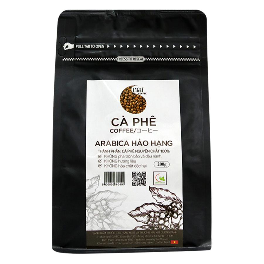 Cà Phê Hạt Nguyên Chất 100% Arabica Hảo Hạng Light Coffee AHH-200 (200g) - 1805230822571,62_1207089,181000,tiki.vn,Ca-Phe-Hat-Nguyen-Chat-100Phan-Tram-Arabica-Hao-Hang-Light-Coffee-AHH-200-200g-62_1207089,Cà Phê Hạt Nguyên Chất 100% Arabica Hảo Hạng Light Coffee AHH-200 (200g)