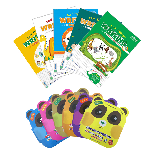 Combo Easy English Writing For Kids (Tặng Kèm Bộ 6 Tập Sách Thiếu Nhi Cùng Gấu Học Tiếng Anh ) - 9577776 , 6460511944554 , 62_17901379 , 360000 , Combo-Easy-English-Writing-For-Kids-Tang-Kem-Bo-6-Tap-Sach-Thieu-Nhi-Cung-Gau-Hoc-Tieng-Anh--62_17901379 , tiki.vn , Combo Easy English Writing For Kids (Tặng Kèm Bộ 6 Tập Sách Thiếu Nhi Cùng Gấu Học T
