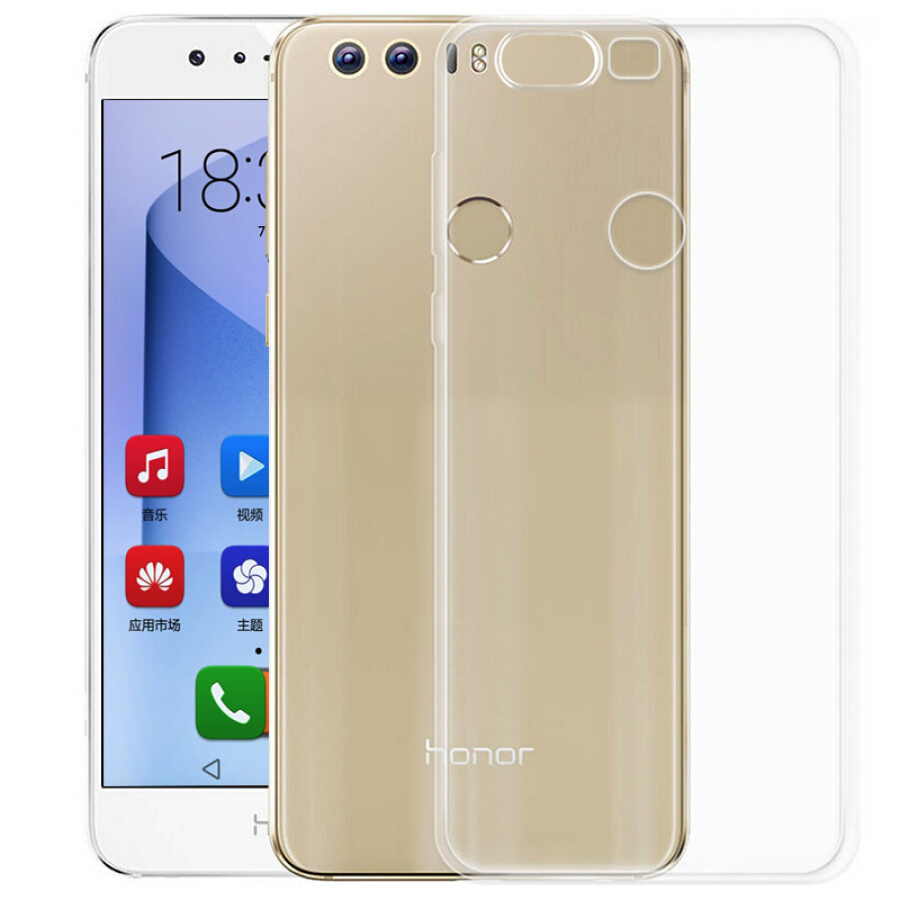 Ốp Silicone Trong Suốt Chống Bụi Bẩn Cho Huawei Honor 8 Freeson