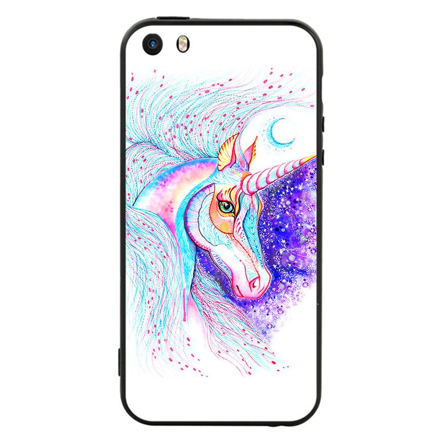 Ốp lưng nhựa cứng viền dẻo TPU cho điện thoại Iphone 5 - Horse 01