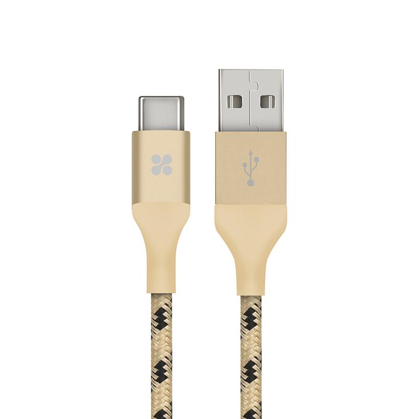 Cáp Chuyển Đổi Promate UniLink-CAM USB Type A Sang USB Type C 3.1 1.2m - Vàng kim