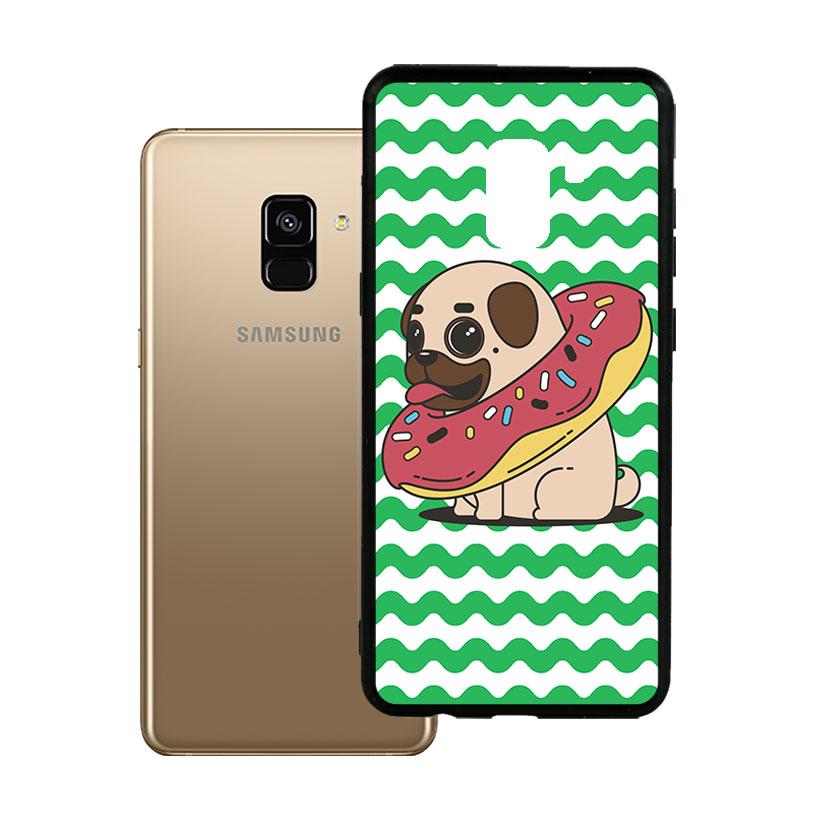 Ốp lưng viền TPU cho Samsung A8 2018 Plus - Cute Dog 04