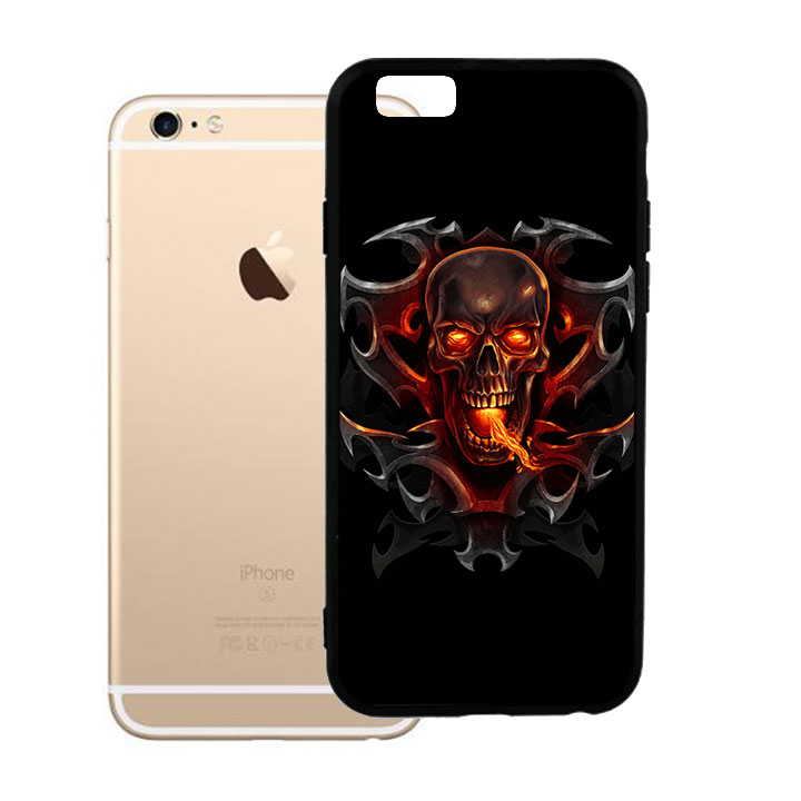 Ốp lưng nhựa cứng viền dẻo TPU cho iPhone 6 Plus - Đầu Lâu