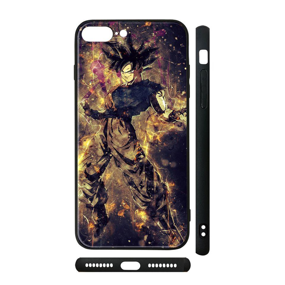 Ốp kính cho iPhone in hình Dragon Ball - Goku Ultra Instinct - 7vnr86 (có đủ mã máy)