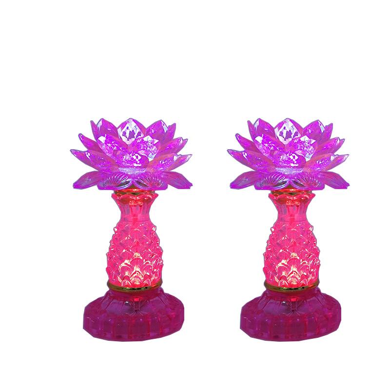 Bộ 2 đèn thờ pha lê hoa sen hồng tím thân cao 18cm VDT-LT01 - 1538545 , 4889583161430 , 62_9690311 , 420000 , Bo-2-den-tho-pha-le-hoa-sen-hong-tim-than-cao-18cm-VDT-LT01-62_9690311 , tiki.vn , Bộ 2 đèn thờ pha lê hoa sen hồng tím thân cao 18cm VDT-LT01
